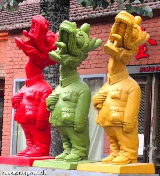 Drei Chinesische Drachen