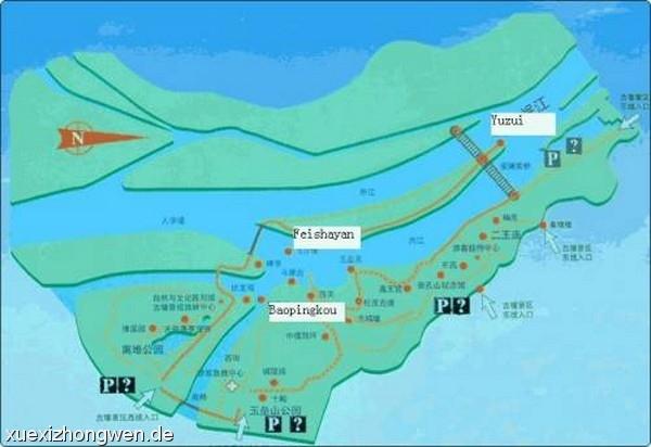 Karte von Sichuan Dujiangyan (Chengdu Sichuan Ebene)