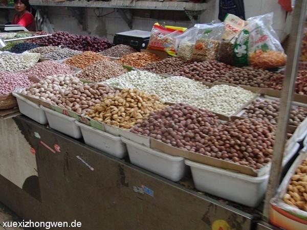 Nüsse und Bohnen