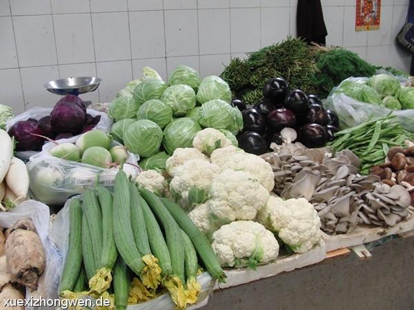Zucchini und Blumenkohl