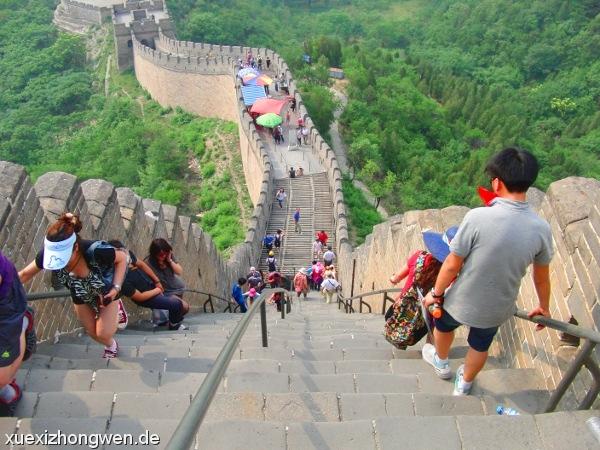 Steile Treppen auf der Chinesischen Mauer