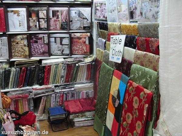 Tischdecken im Silk Market