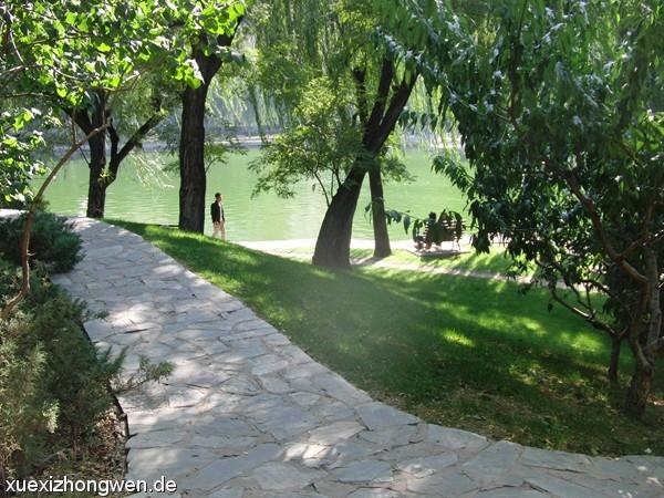 Weg im grünen Tuanjiehu Park