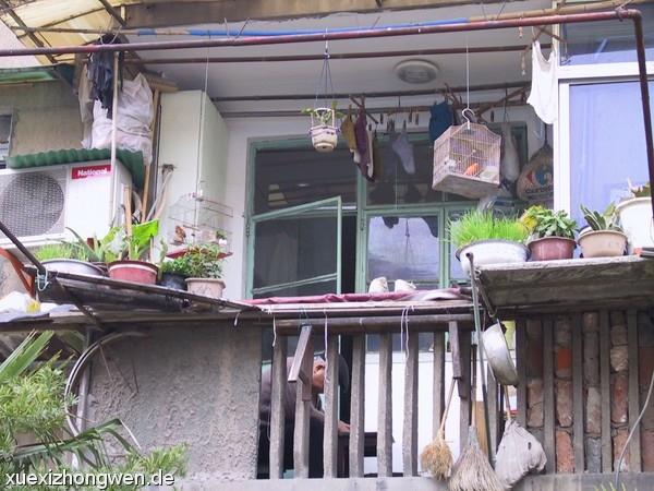 Balkon zu 40qm Wohnung in Shanghai