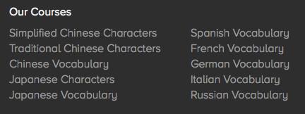 Sprachen im Angebot von Remembr.it